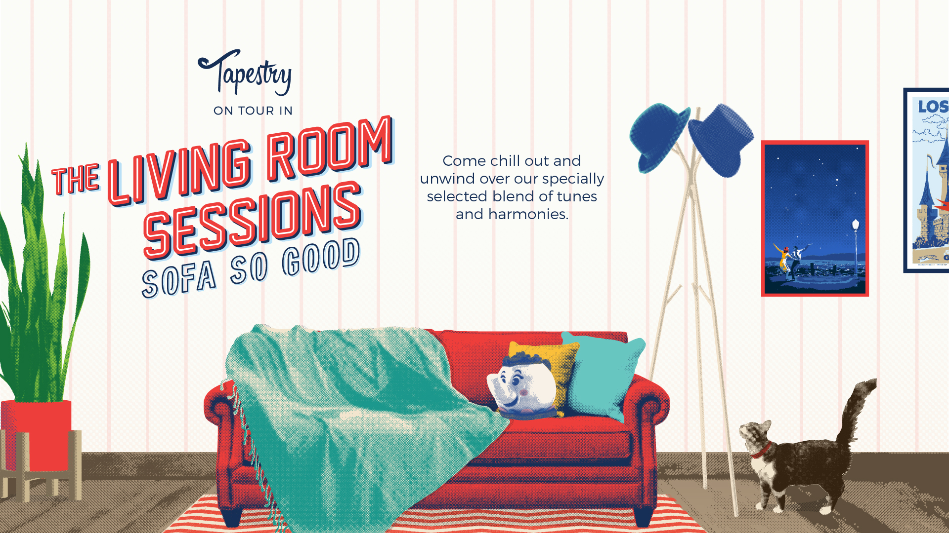 NEW: TICKETS FOR THE LIVING ROOM SESSIONS 2018 – Tapestry